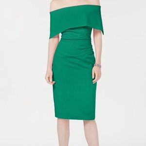 Vince Camuto NWT 6 off the shoulder cocktail dress